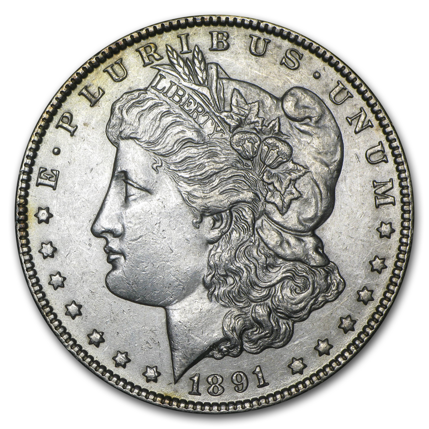 1891-CC Morgan Dollar AU