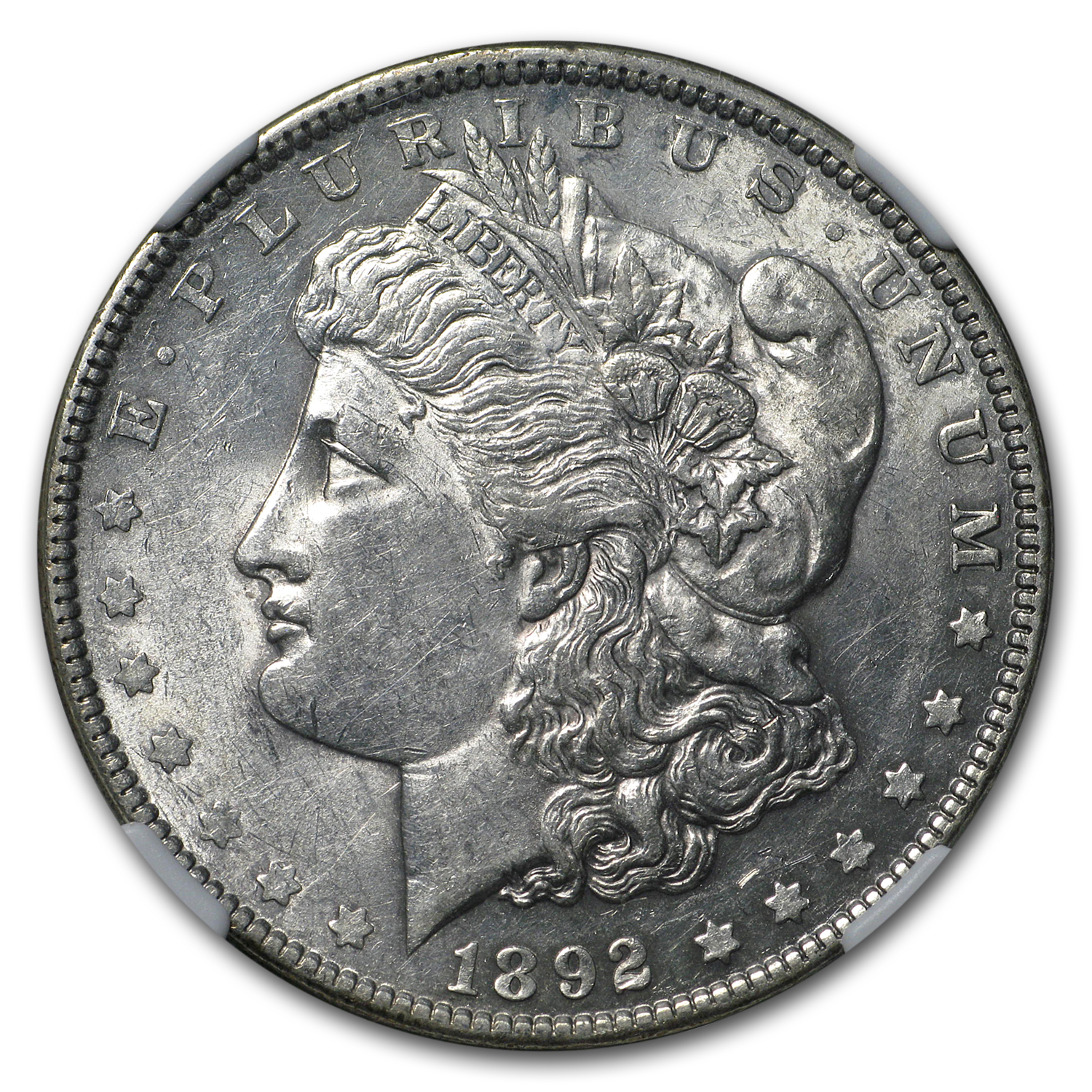 1892 Morgan Dollar AU-58