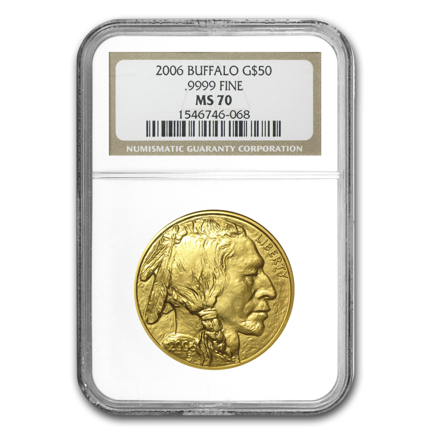 2006 1 oz Gold Buffalo MS-70 NGC