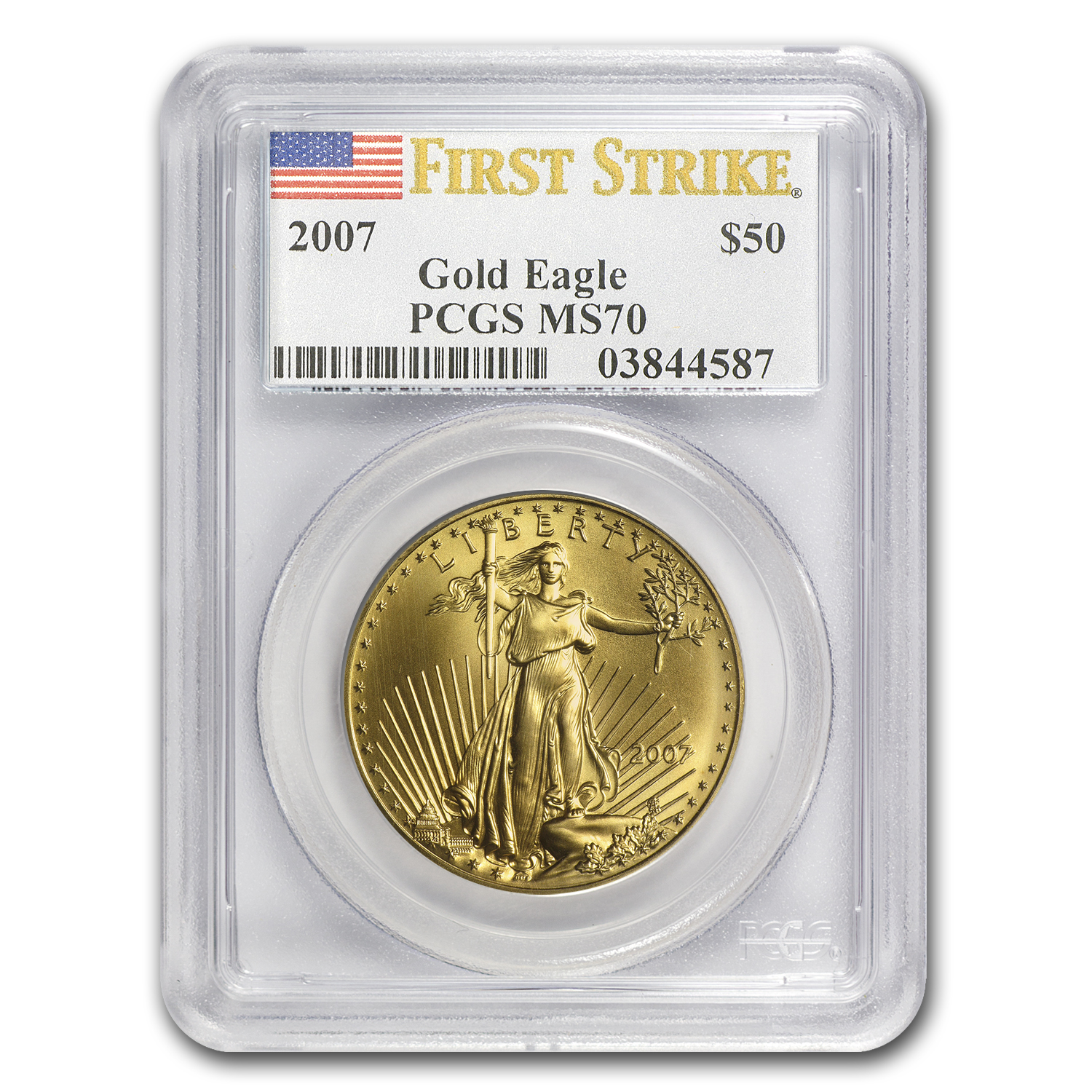 2007 1 oz Gold American Eagle MS-70 PCGS (FS) Registry Coin