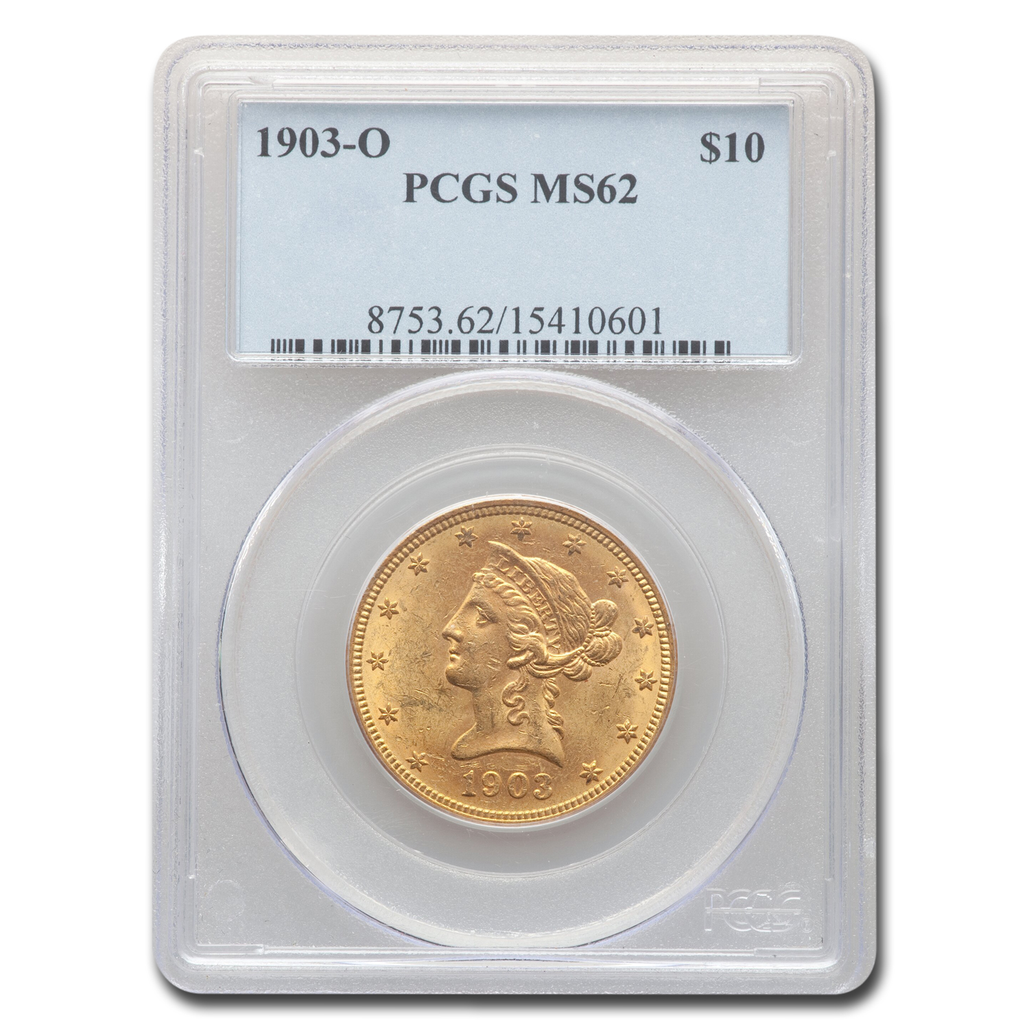 1903-O $10 Liberty Gold Eagle MS-62 PCGS