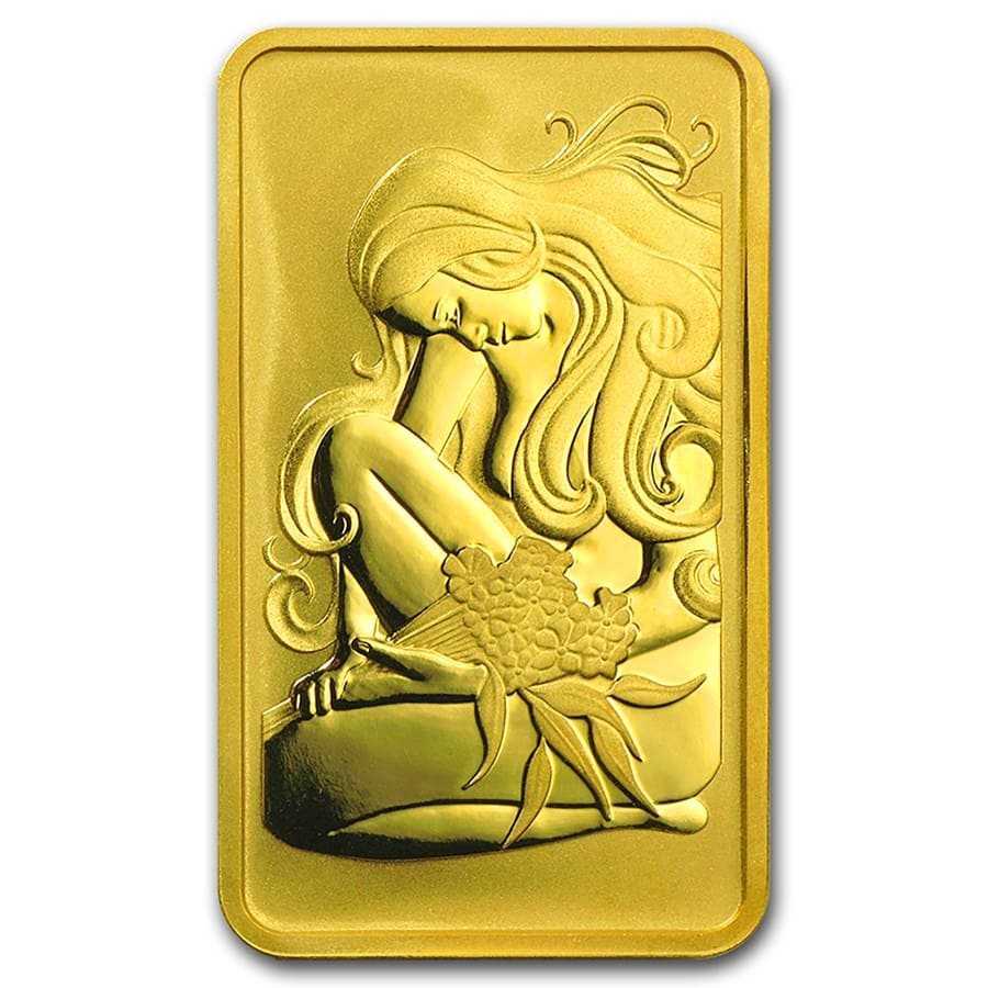 10 gram Gold Bars - Perth Mint (Oriana Design, in Assay)
