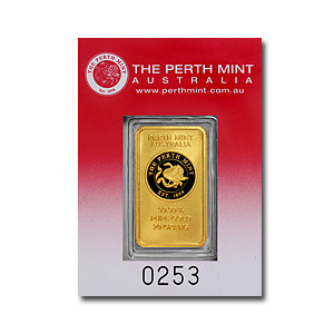 20 gram Gold Bars - Perth Mint (Oriana Design, in Assay)