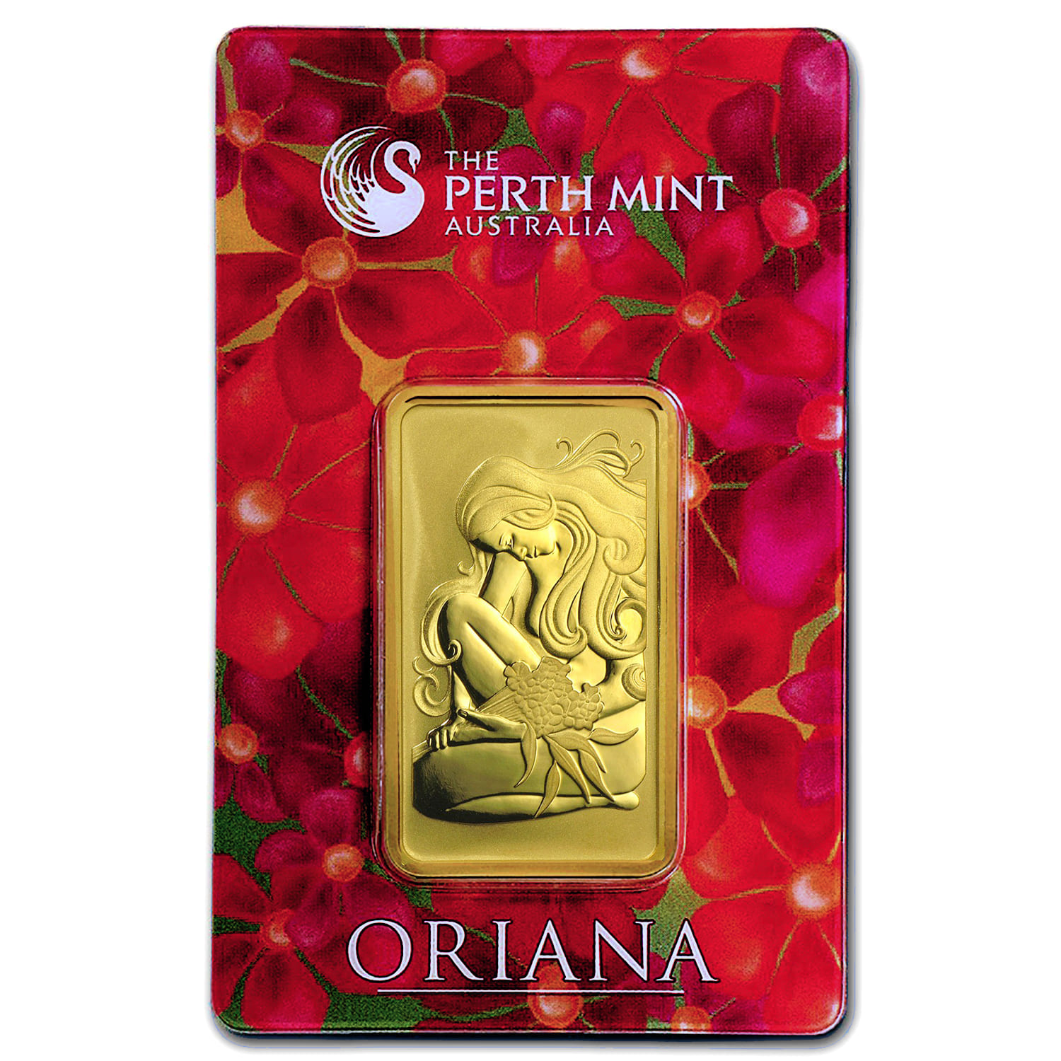 1 oz Gold Bar - Perth Mint Oriana Design (In Assay)