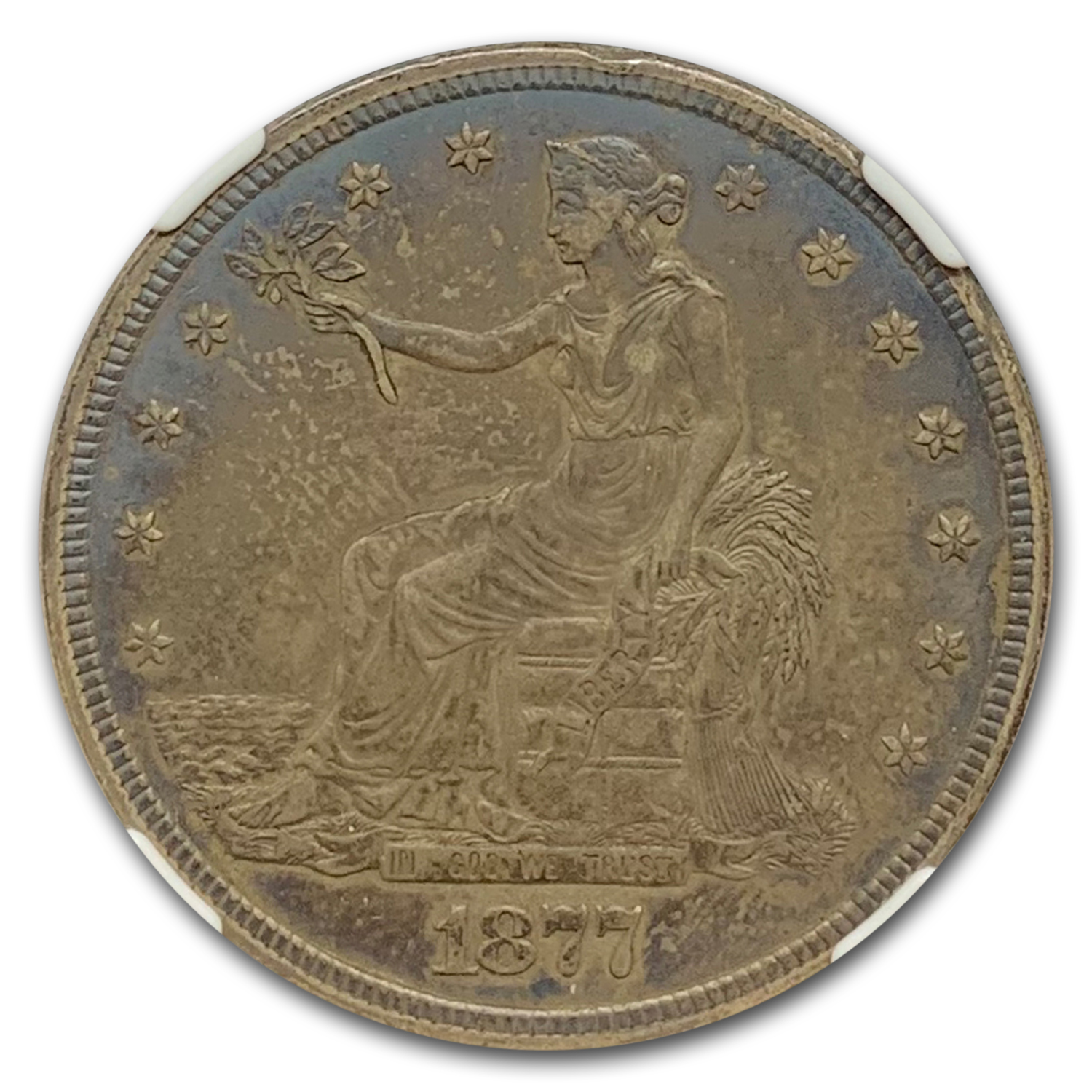 1877-S Trade Dollar Almost Uncirculated-58 NGC