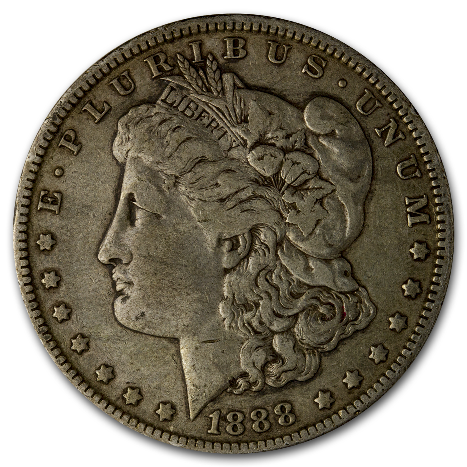 1888-O Morgan Dollar VG-VF (VAM-4, Hot Lips, Doubled Die)