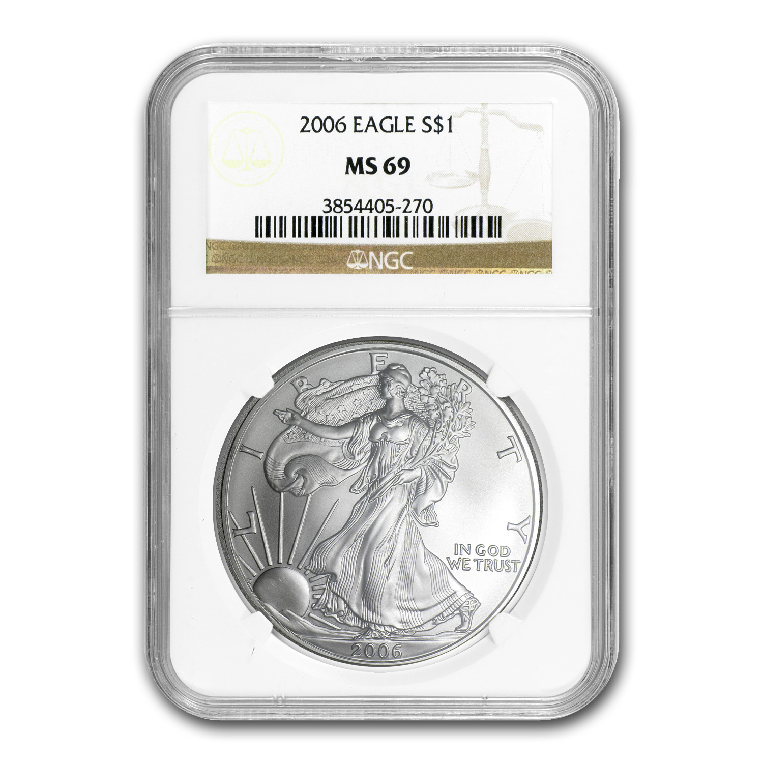 2006 Silver American Eagle MS-69 NGC