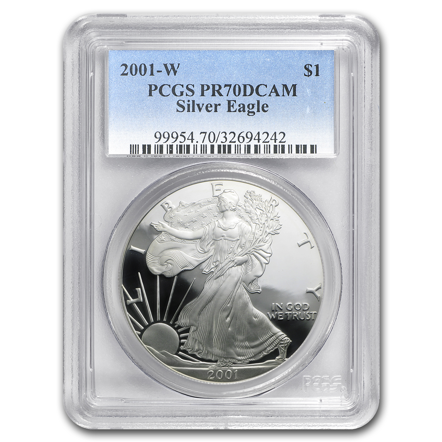 2001-W Proof Silver American Eagle PR-70 PCGS
