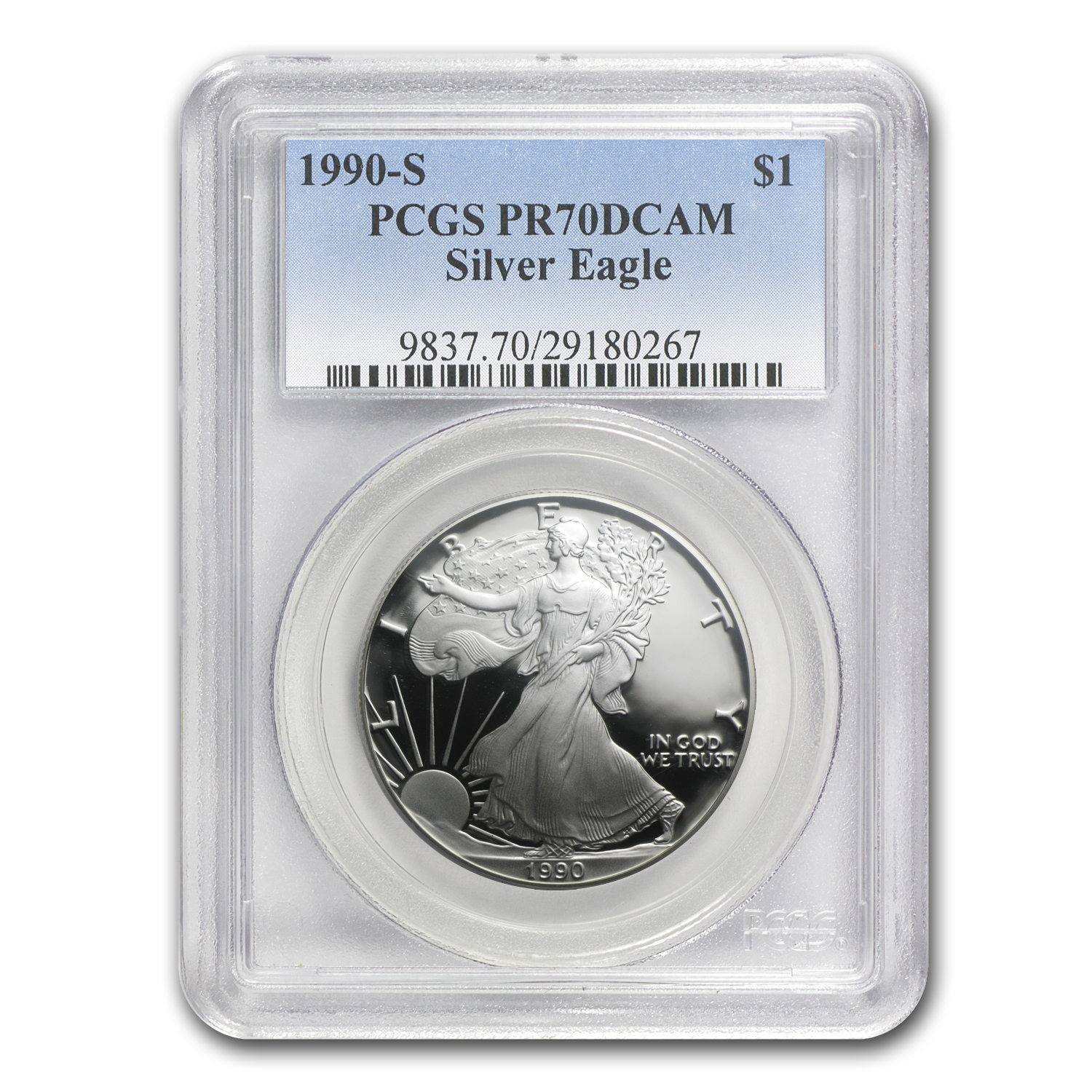 1990-S Proof Silver American Eagle PR-70 PCGS
