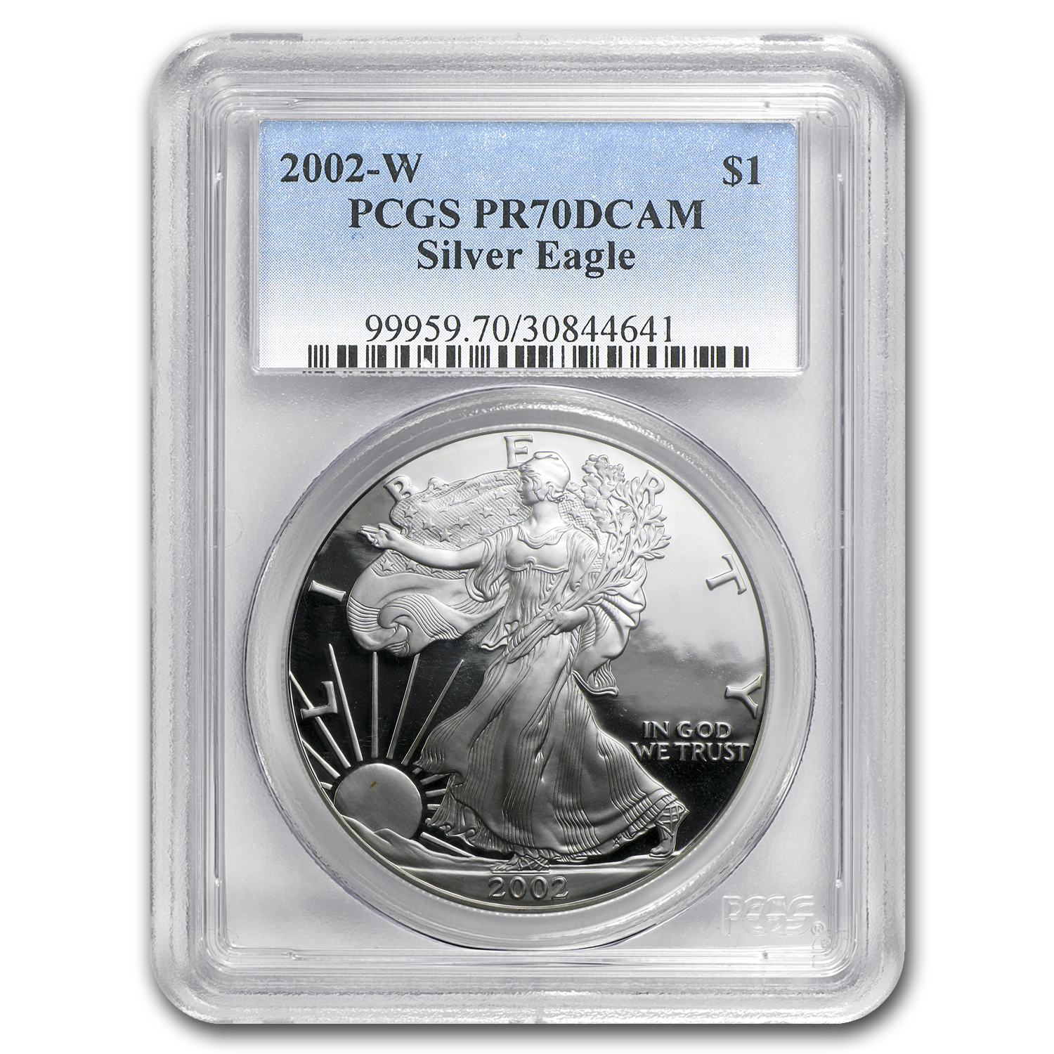 2002-W Proof Silver American Eagle PR-70 PCGS
