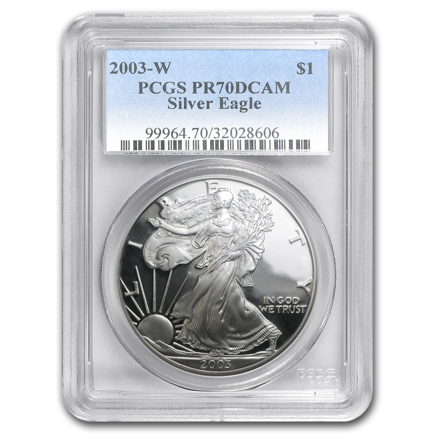 2003-W Proof Silver American Eagle PR-70 PCGS