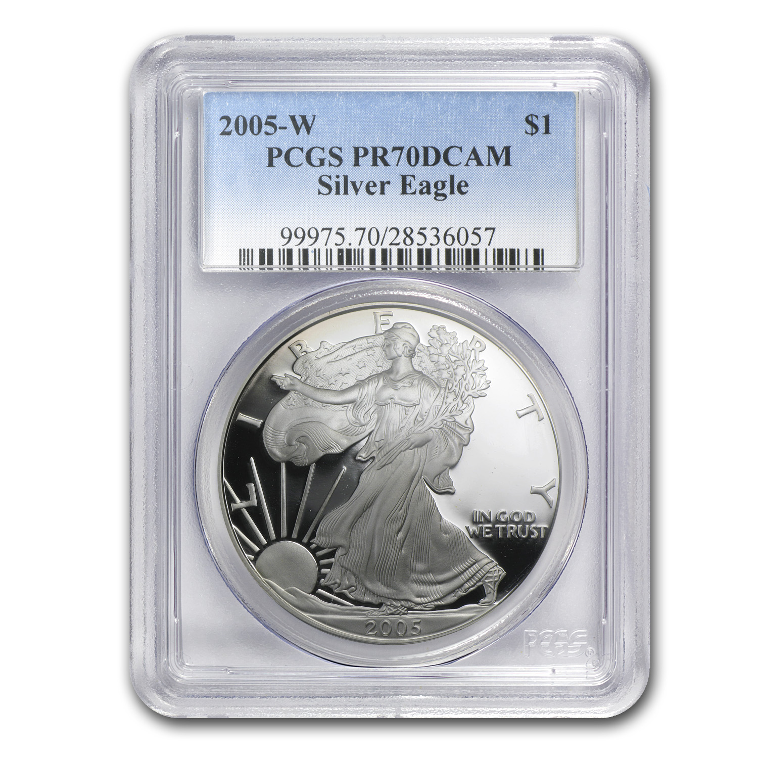 2005-W Proof Silver American Eagle PR-70 PCGS