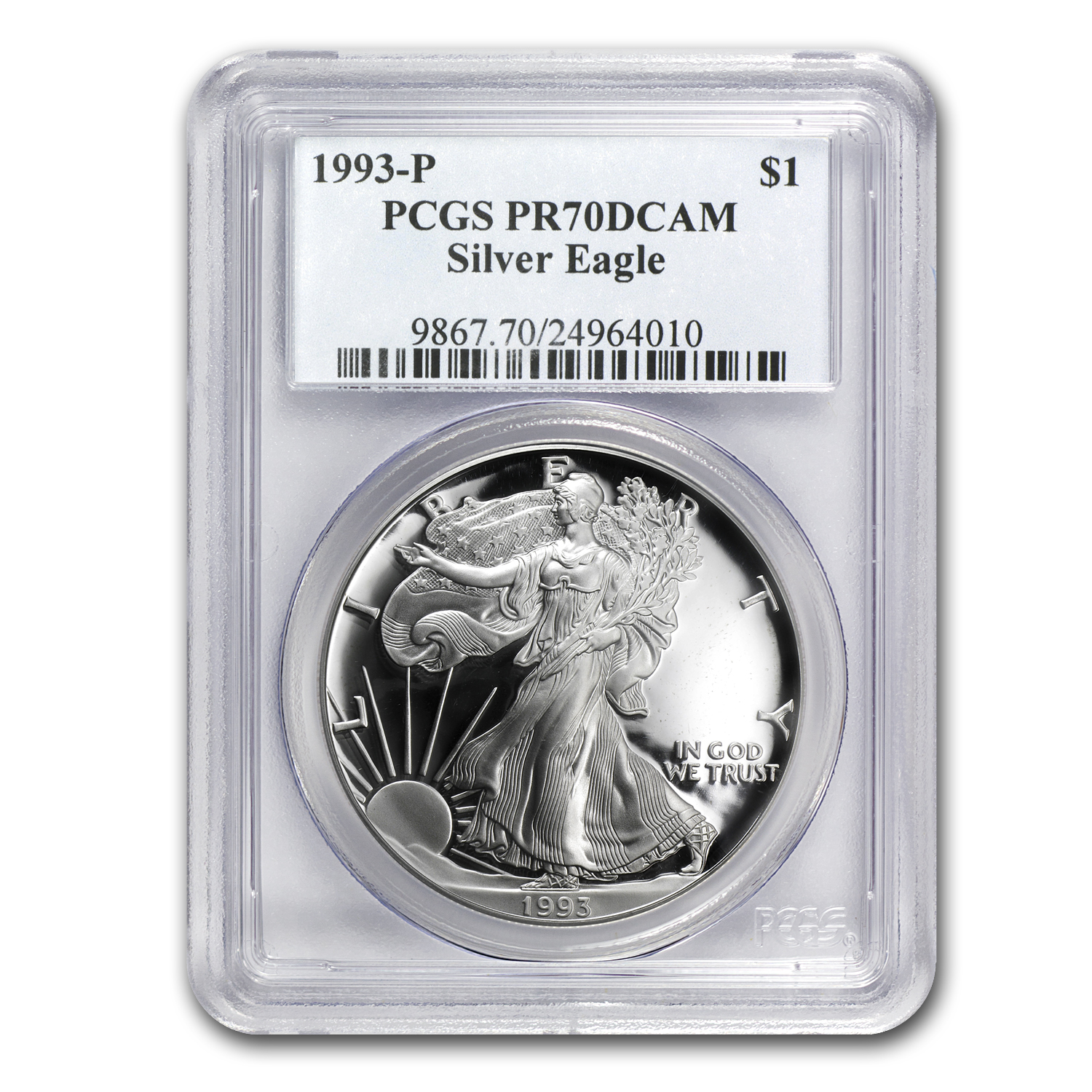 1993-P Proof Silver American Eagle PR-70 PCGS (Registry Set)