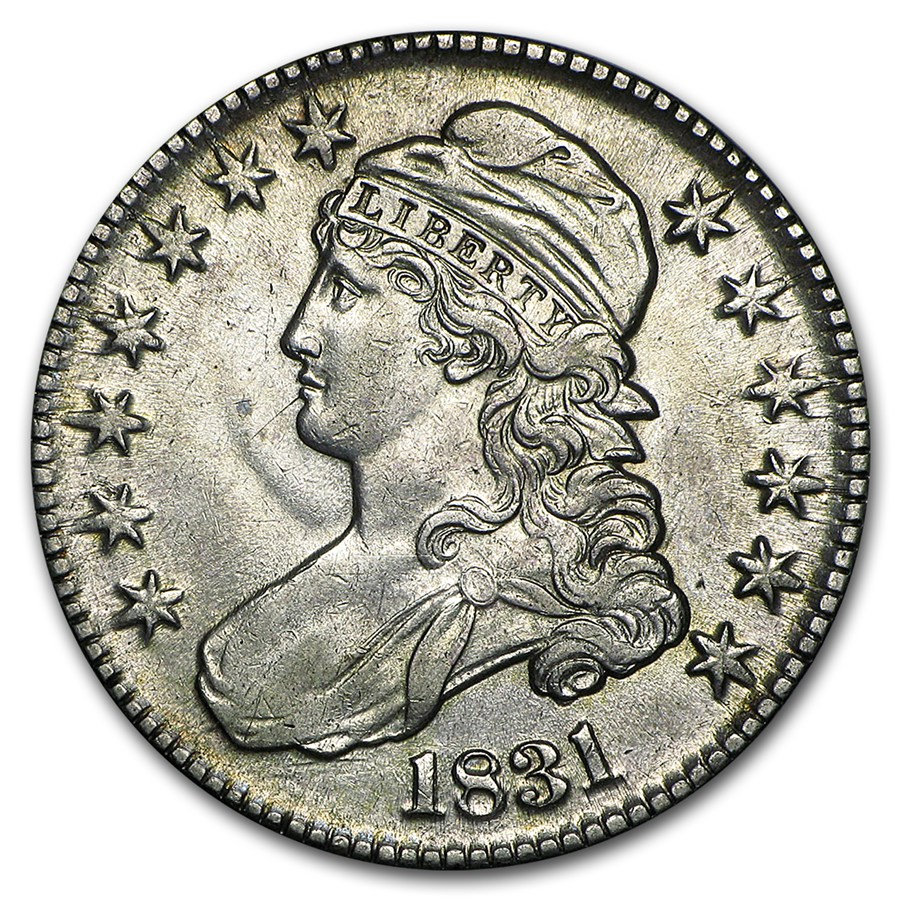 1831 Capped Bust Half Dollar Au 55 Early Half Dollars