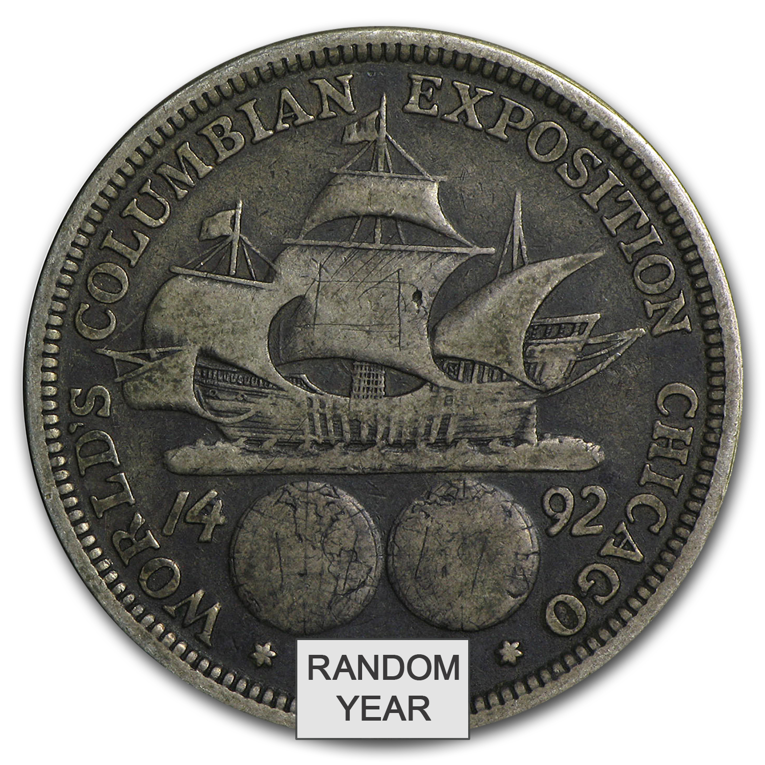 1892-1893 Columbian Exposition Half-Dollar (Average Circulated)