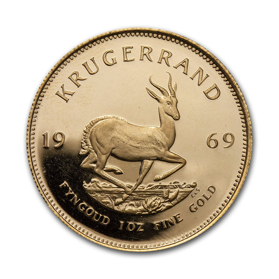 1969 South Africa 1 oz Proof Gold Krugerrand