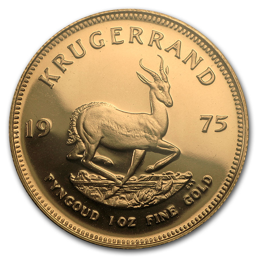 1975 South Africa 1 oz Proof Gold Krugerrand