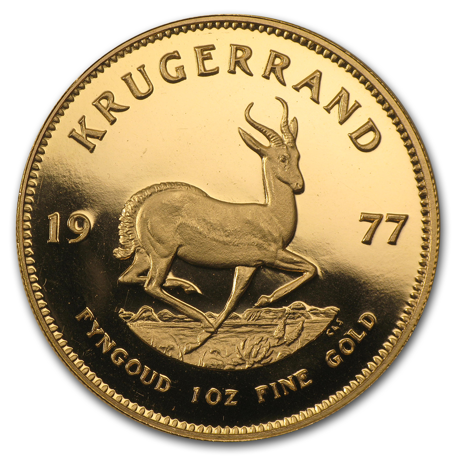 1977 South Africa 1 oz Proof Gold Krugerrand