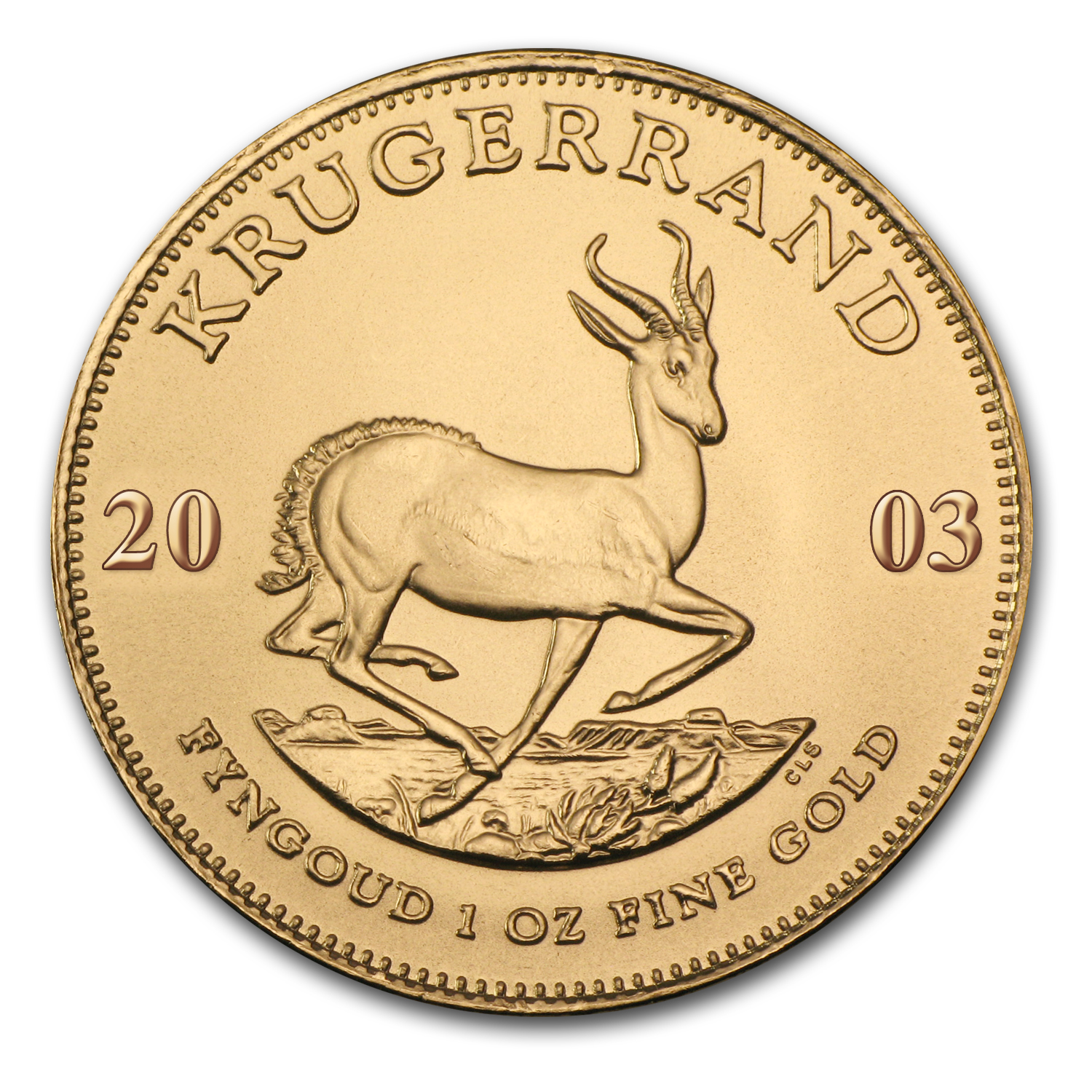 2003 South Africa 1 oz Gold Krugerrand