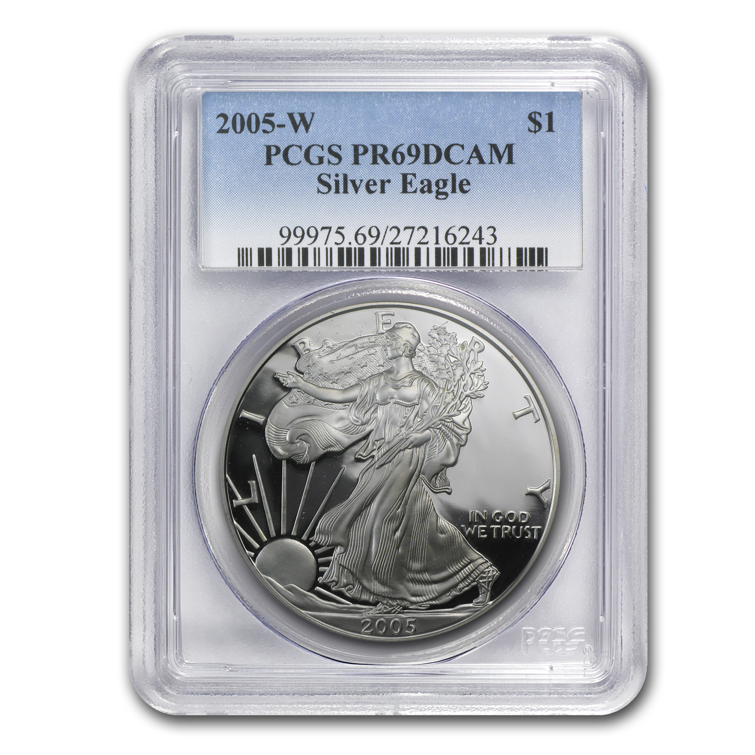 2005-W Proof Silver American Eagle PR-69 PCGS