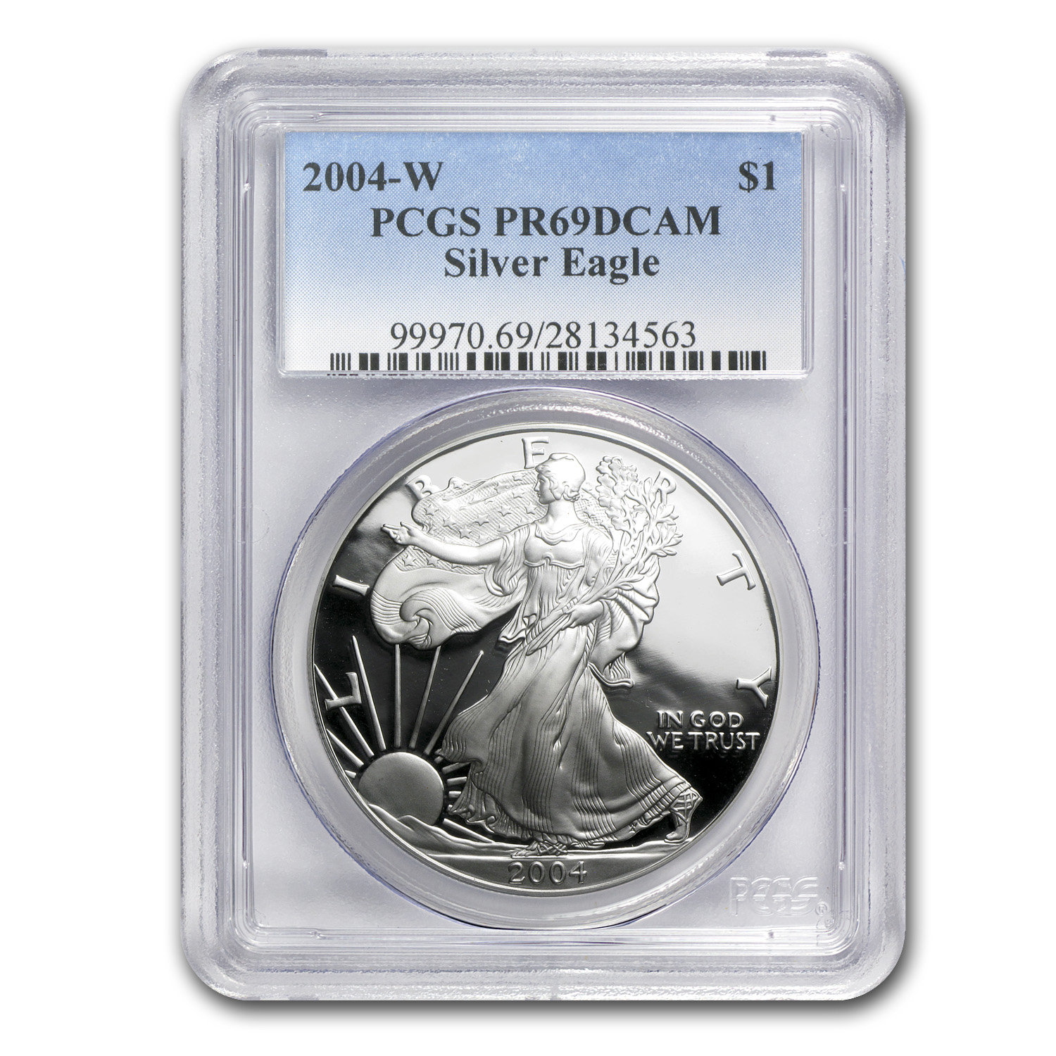 2004-W Proof Silver American Eagle PR-69 PCGS