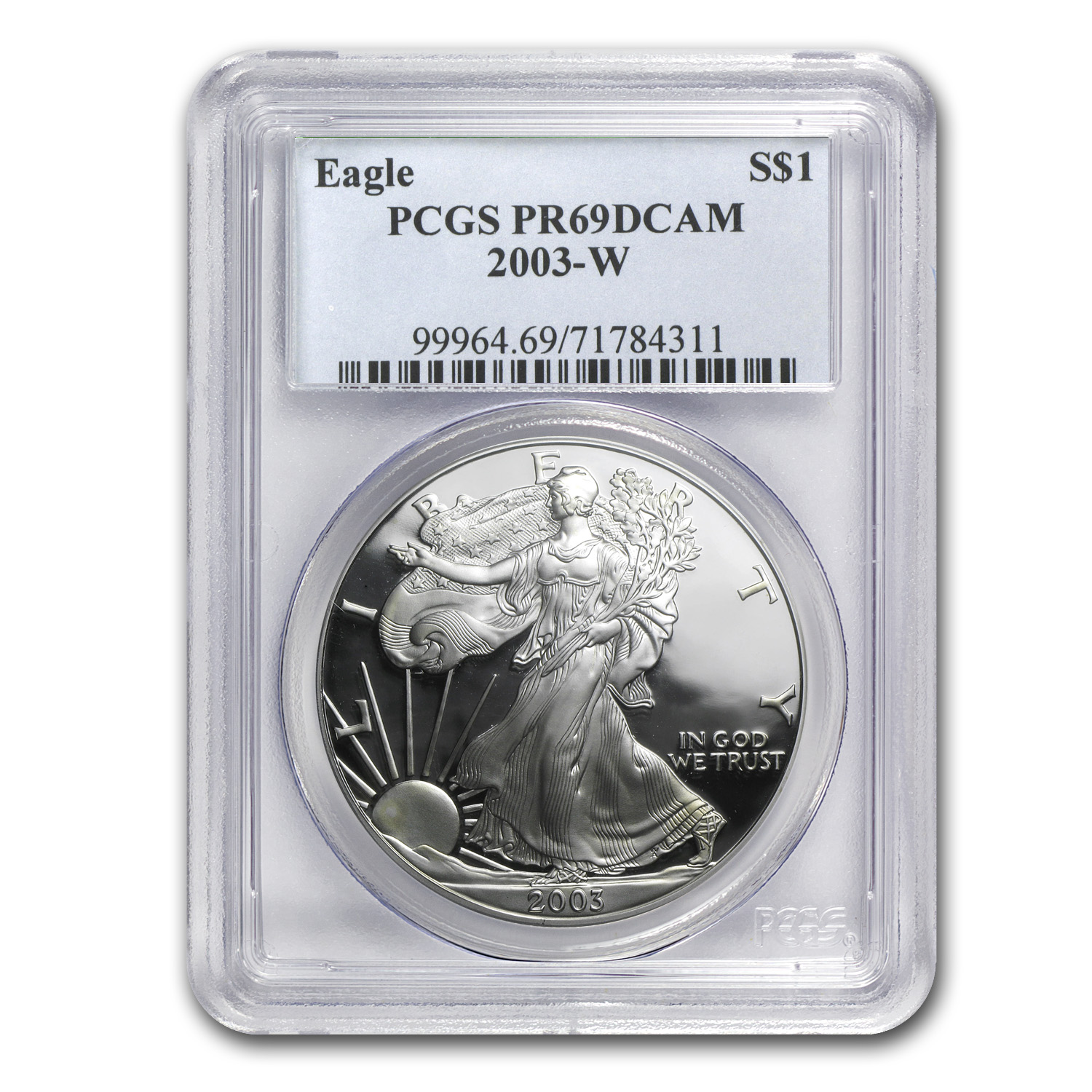 2003-W Proof Silver American Eagle PR-69 PCGS