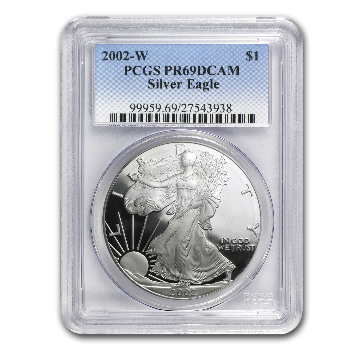 2002-W Proof Silver American Eagle PR-69 PCGS