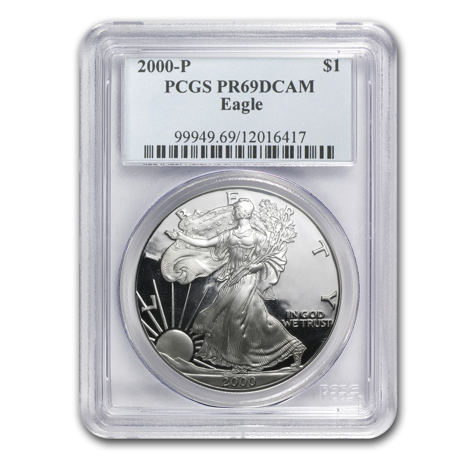 2000-P Proof Silver American Eagle PR-69 PCGS