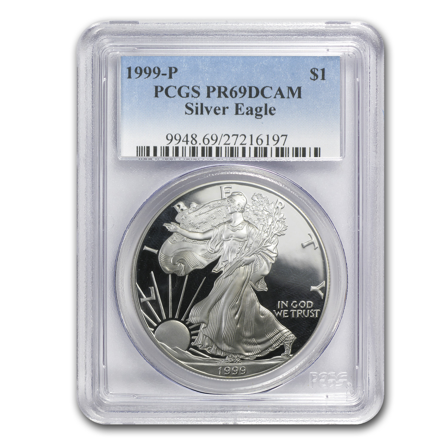 1999-P Proof Silver American Eagle PR-69 PCGS