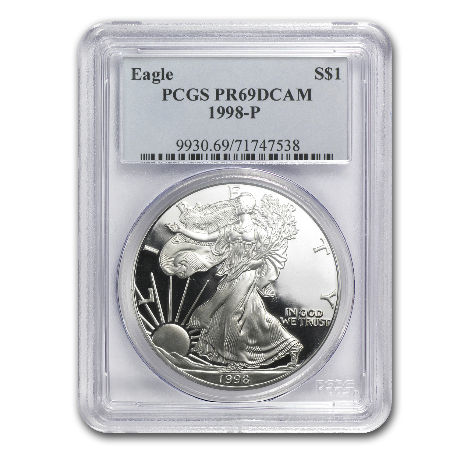 1998-P Proof Silver American Eagle PR-69 PCGS