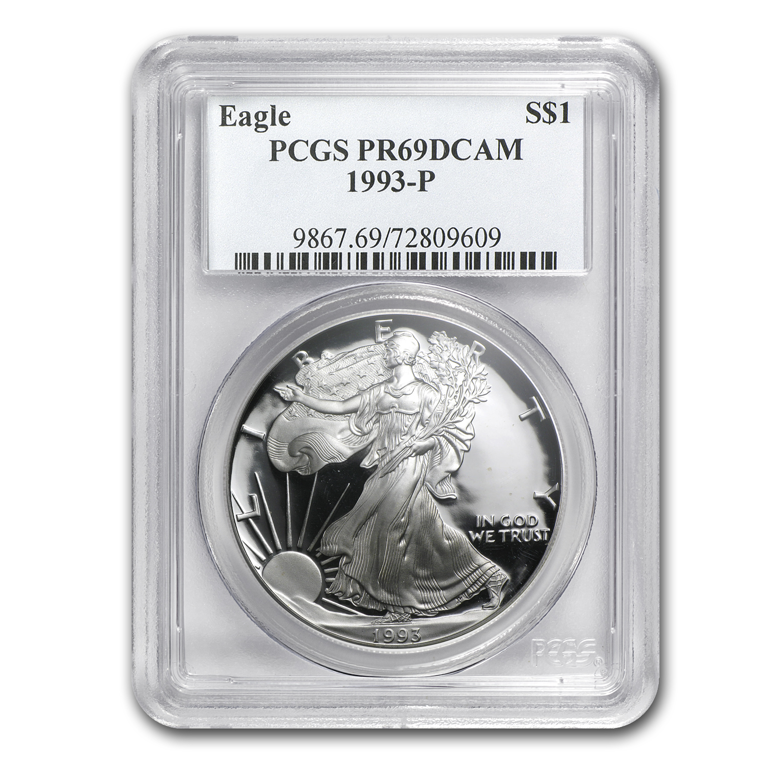 1993-P Proof Silver American Eagle PR-69 PCGS