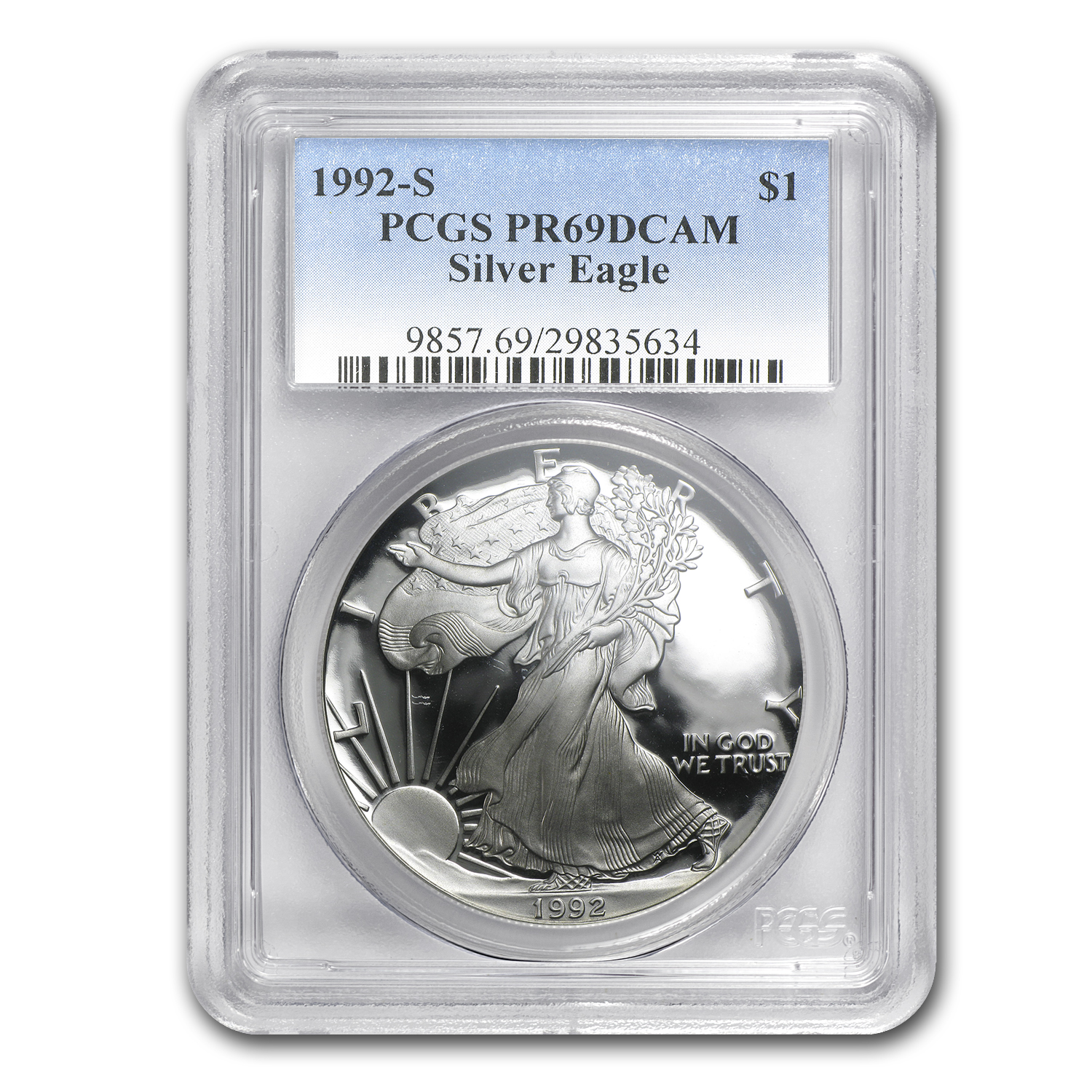 1992-S Proof Silver American Eagle PR-69 PCGS