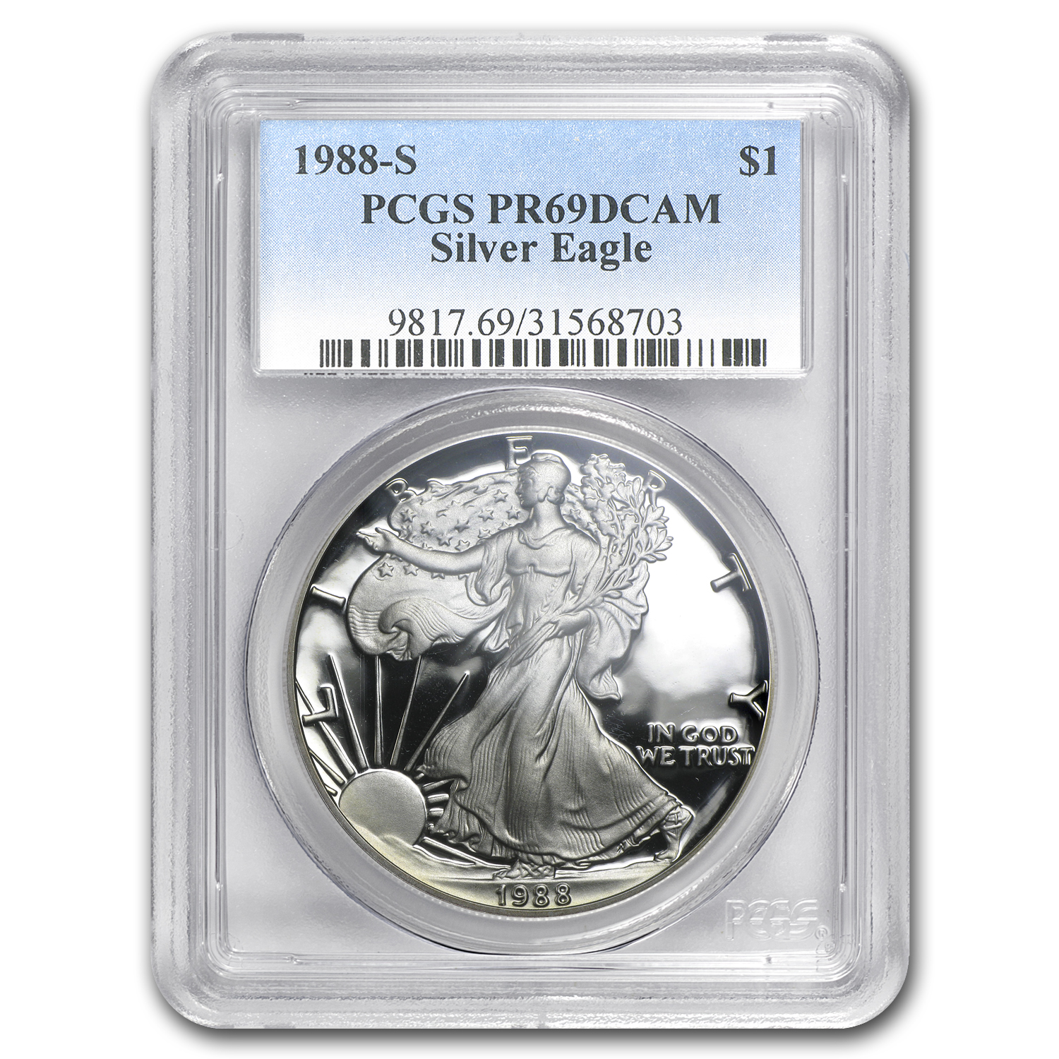 1988-S Proof Silver American Eagle PR-69 PCGS