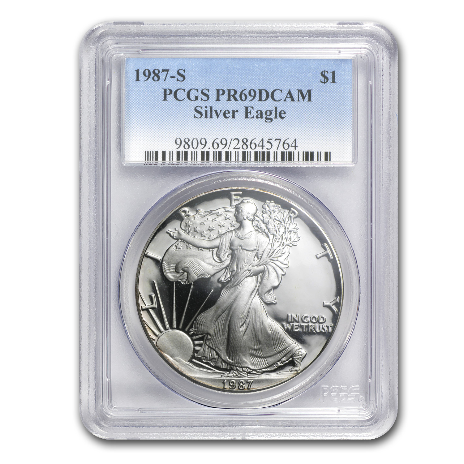 1987-S Proof Silver American Eagle PR-69 PCGS