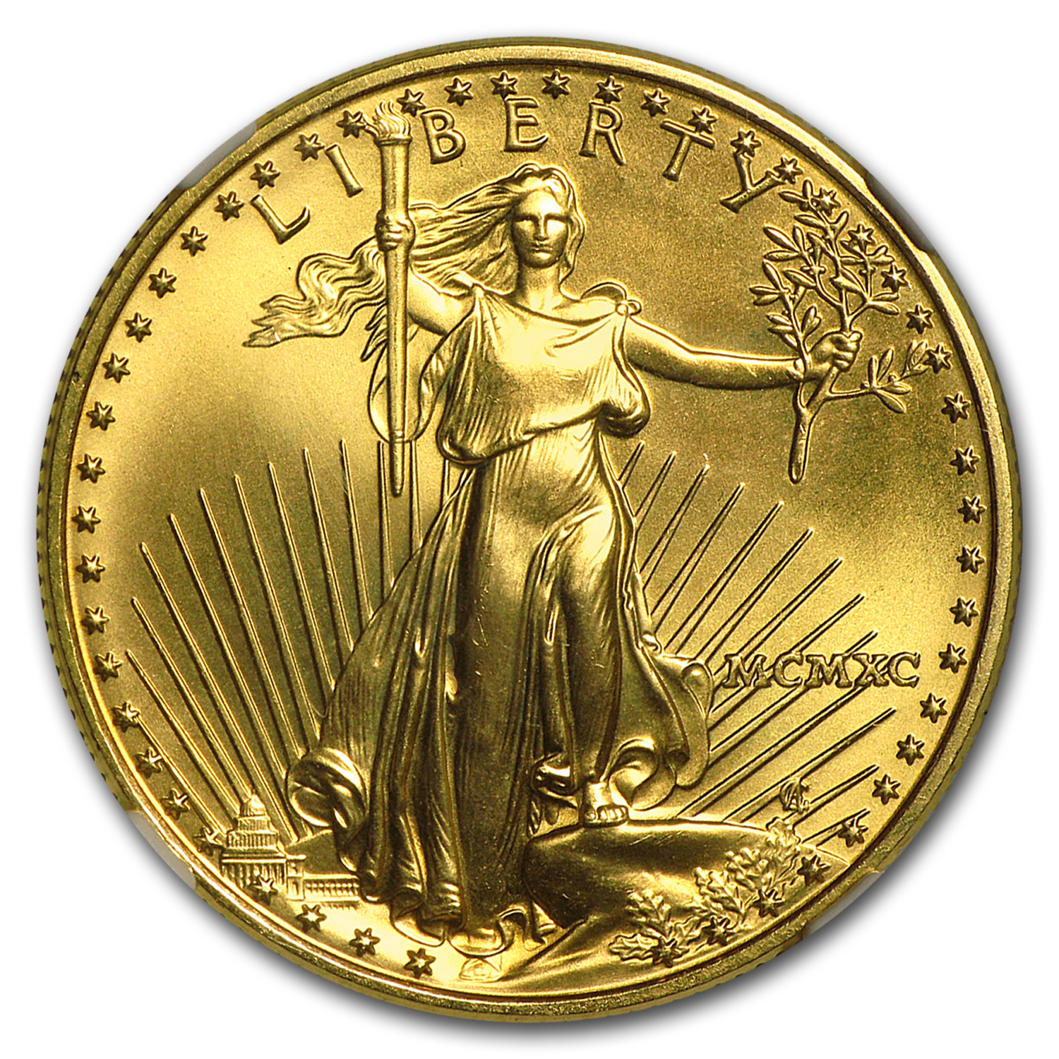 1990 1/2 oz Gold American Eagle MS-69 NGC