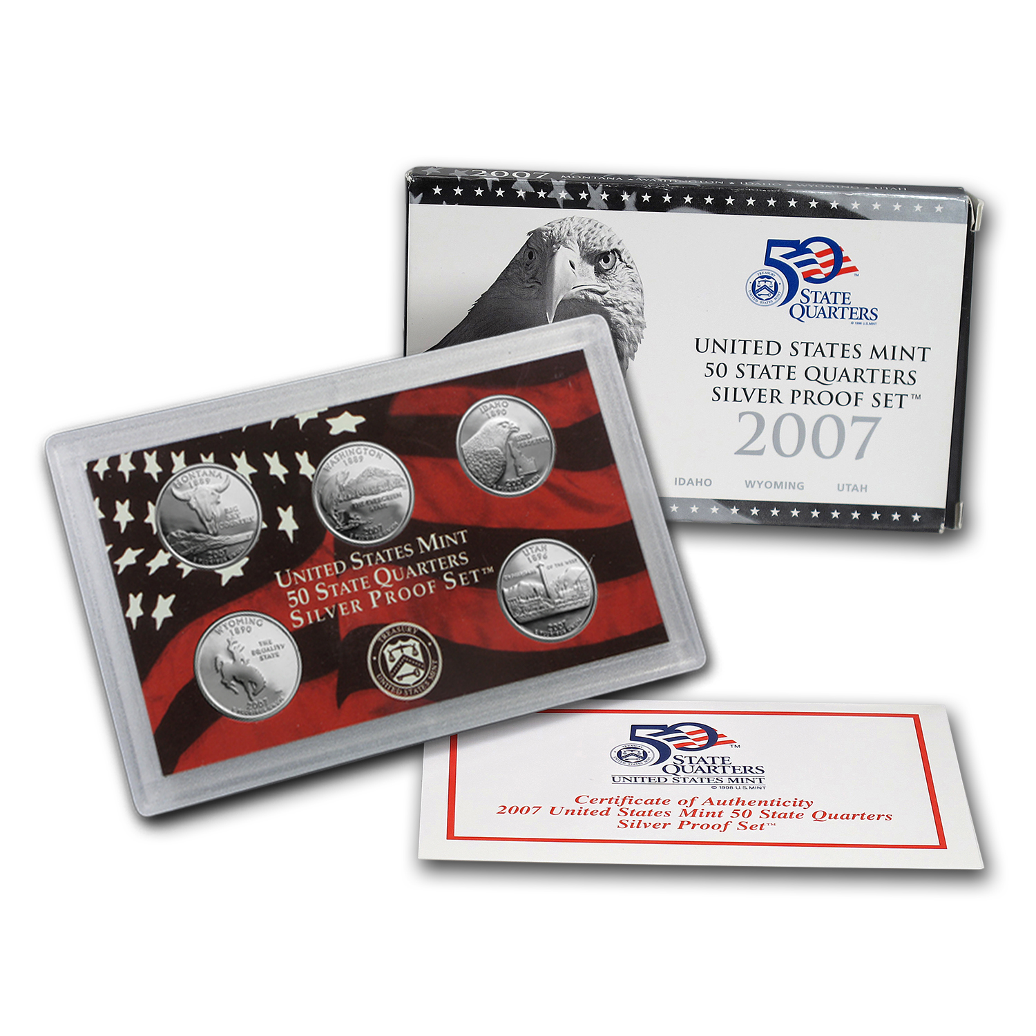 2007 State Quarters Silver Proof Set