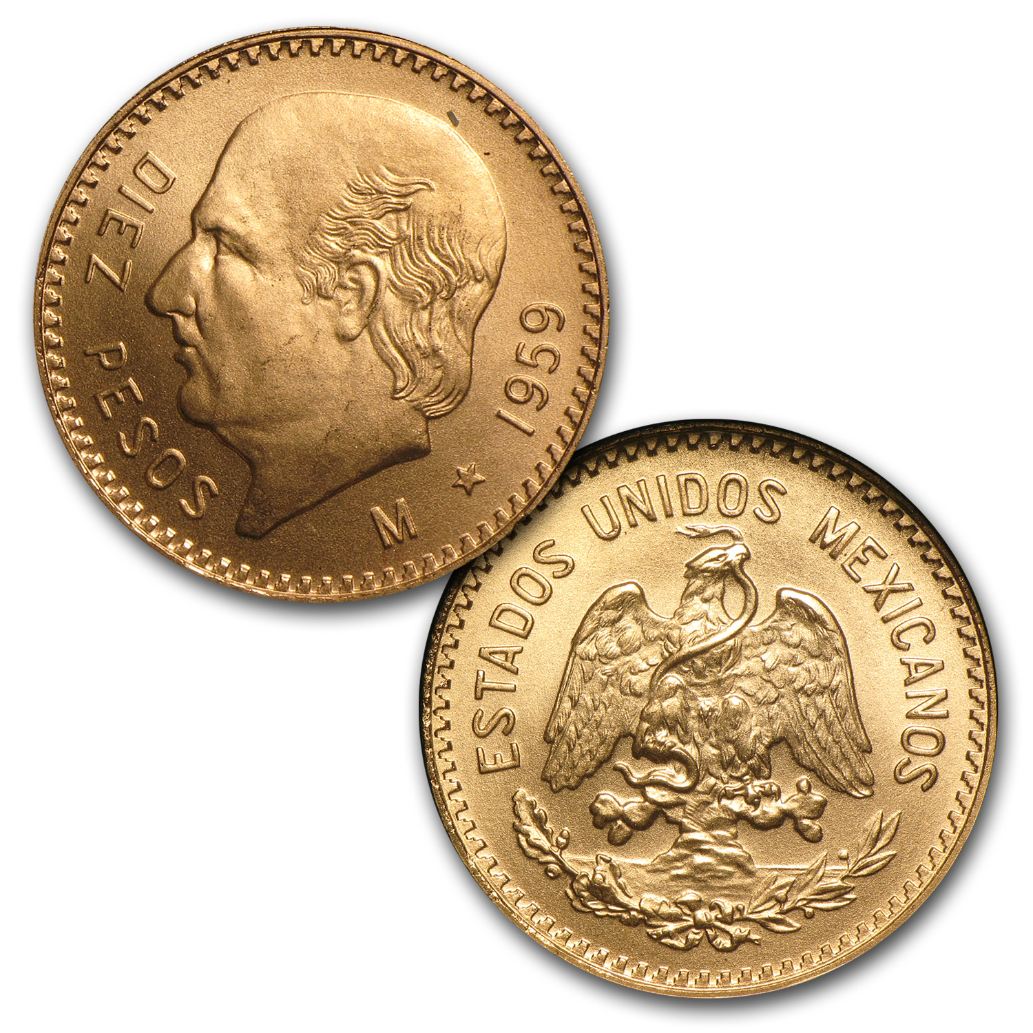 Mexico 6-Coin Gold Type Set BU