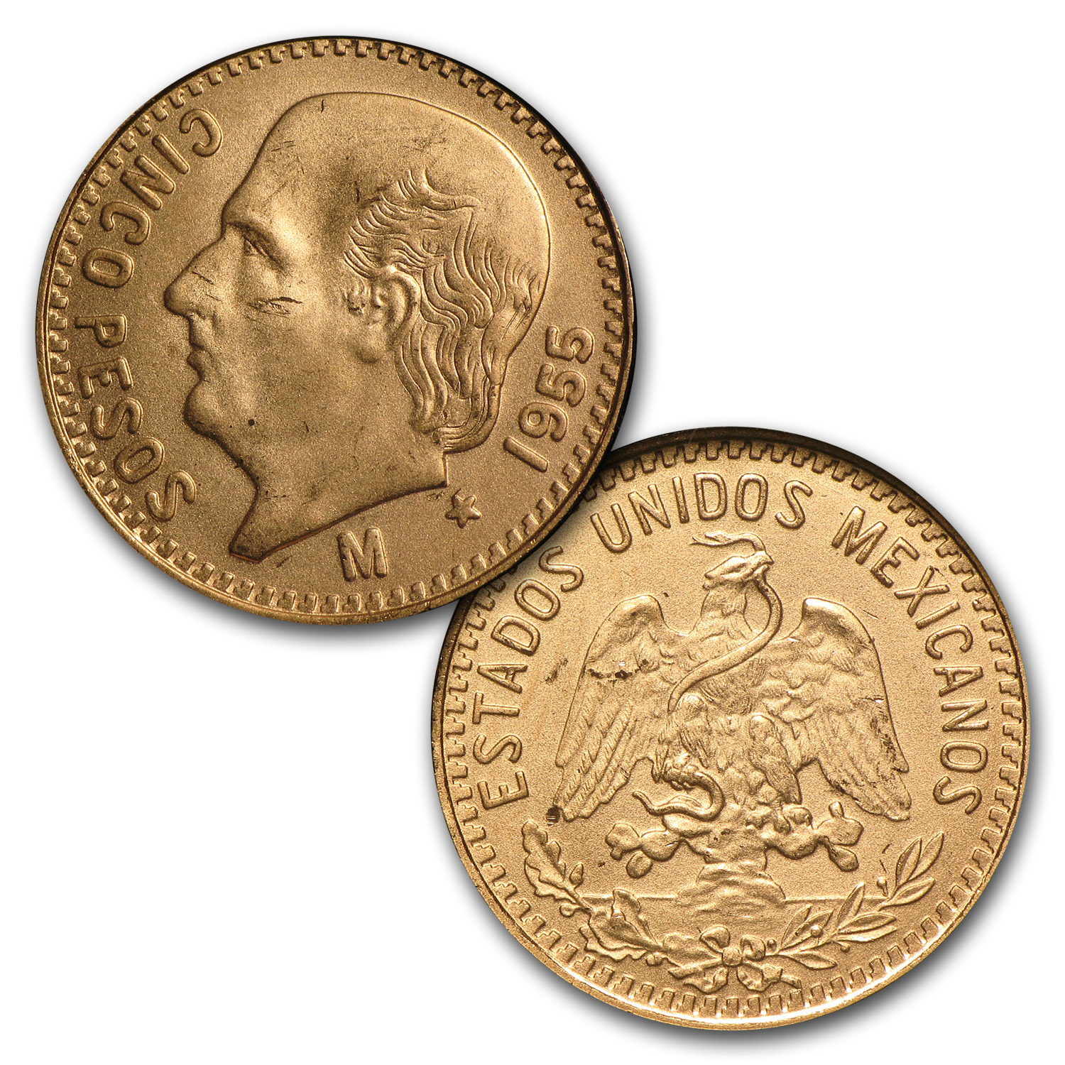 Mexican Gold 6-Coin Type Set (Brilliant Uncirculated)
