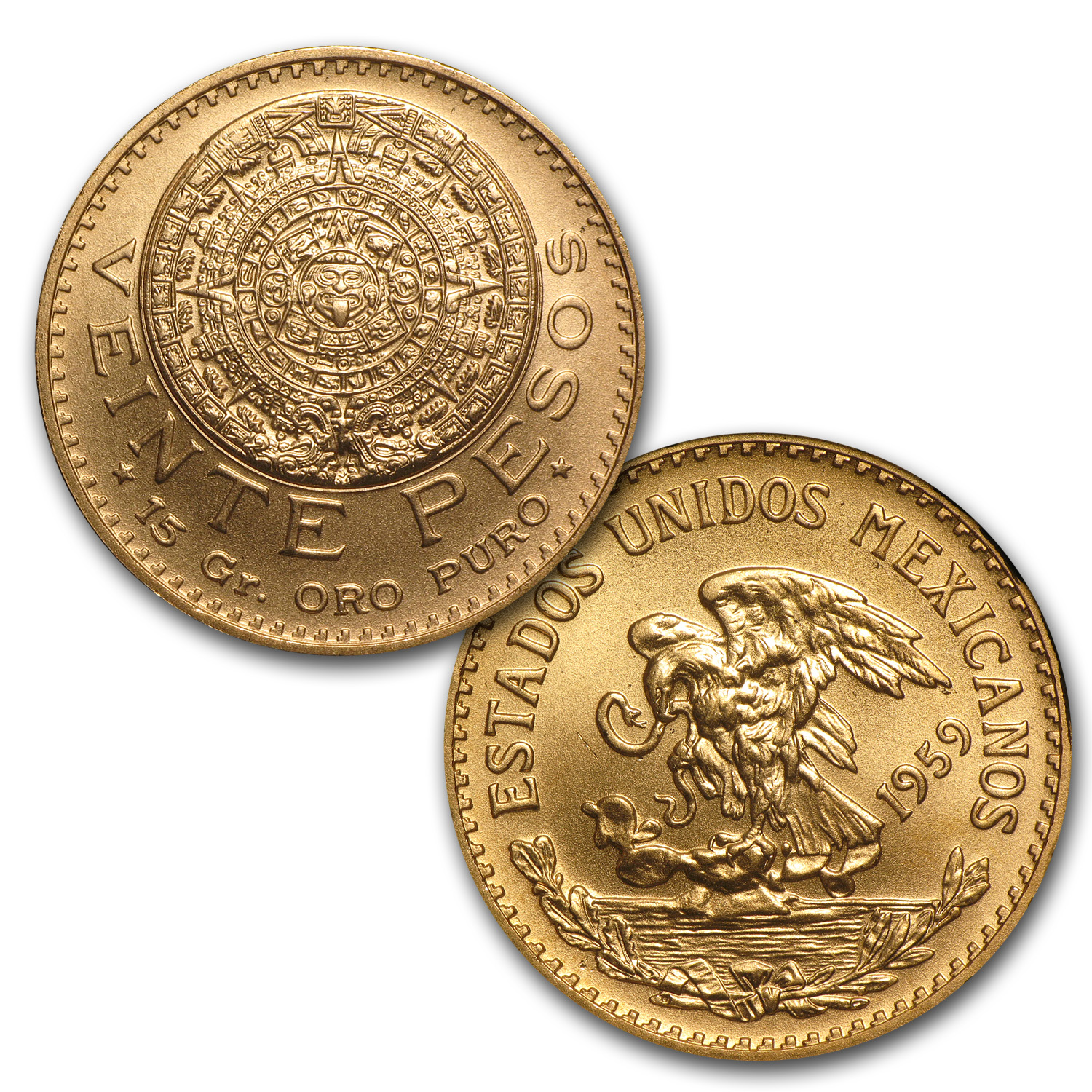 Mexican 6-Coin Gold Type Set BU