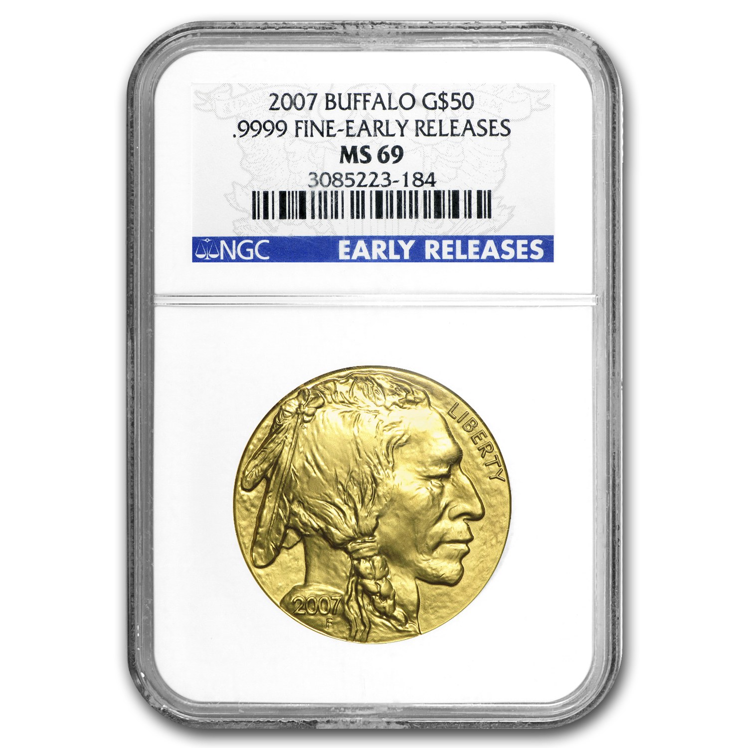 2007 1 oz Gold Buffalo MS-69 NGC (Early Releases)