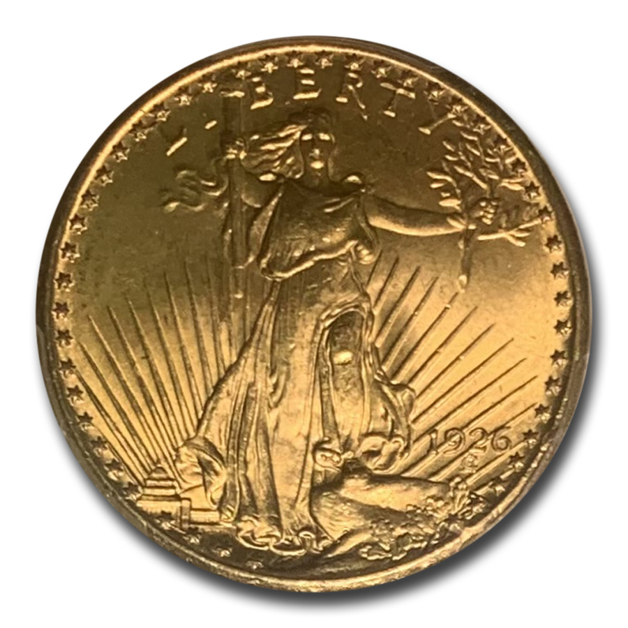 1926 $20 St. Gaudens Gold Double Eagle MS-64 PCGS
