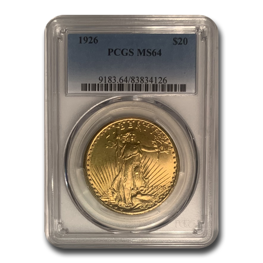 1926 $20 St. Gaudens Gold Double Eagle - MS-64 PCGS
