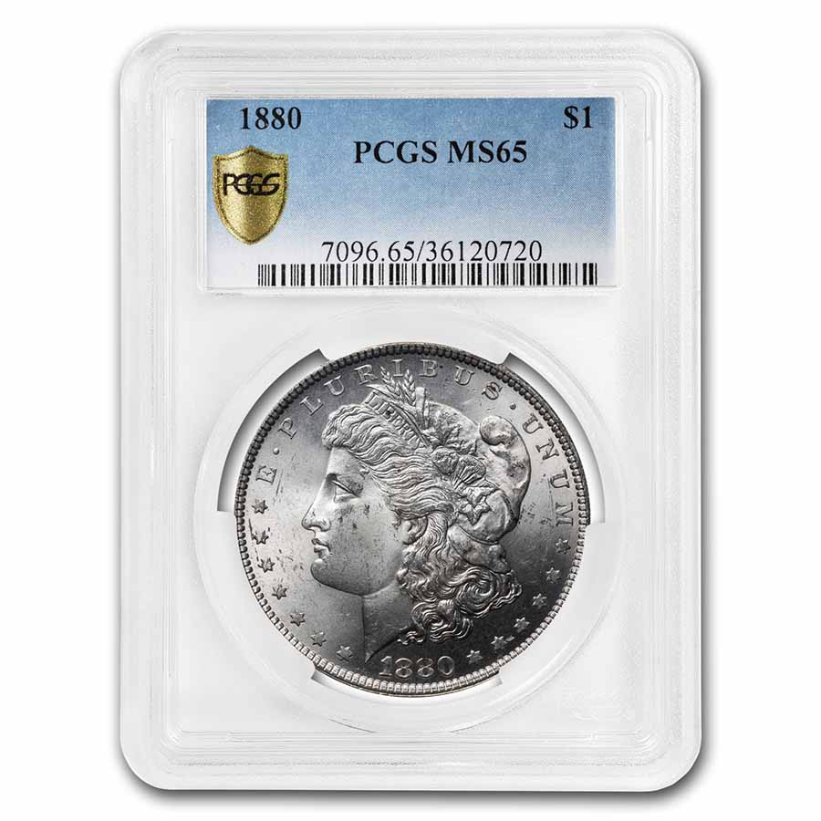 1880 Morgan Dollar - MS-65 PCGS