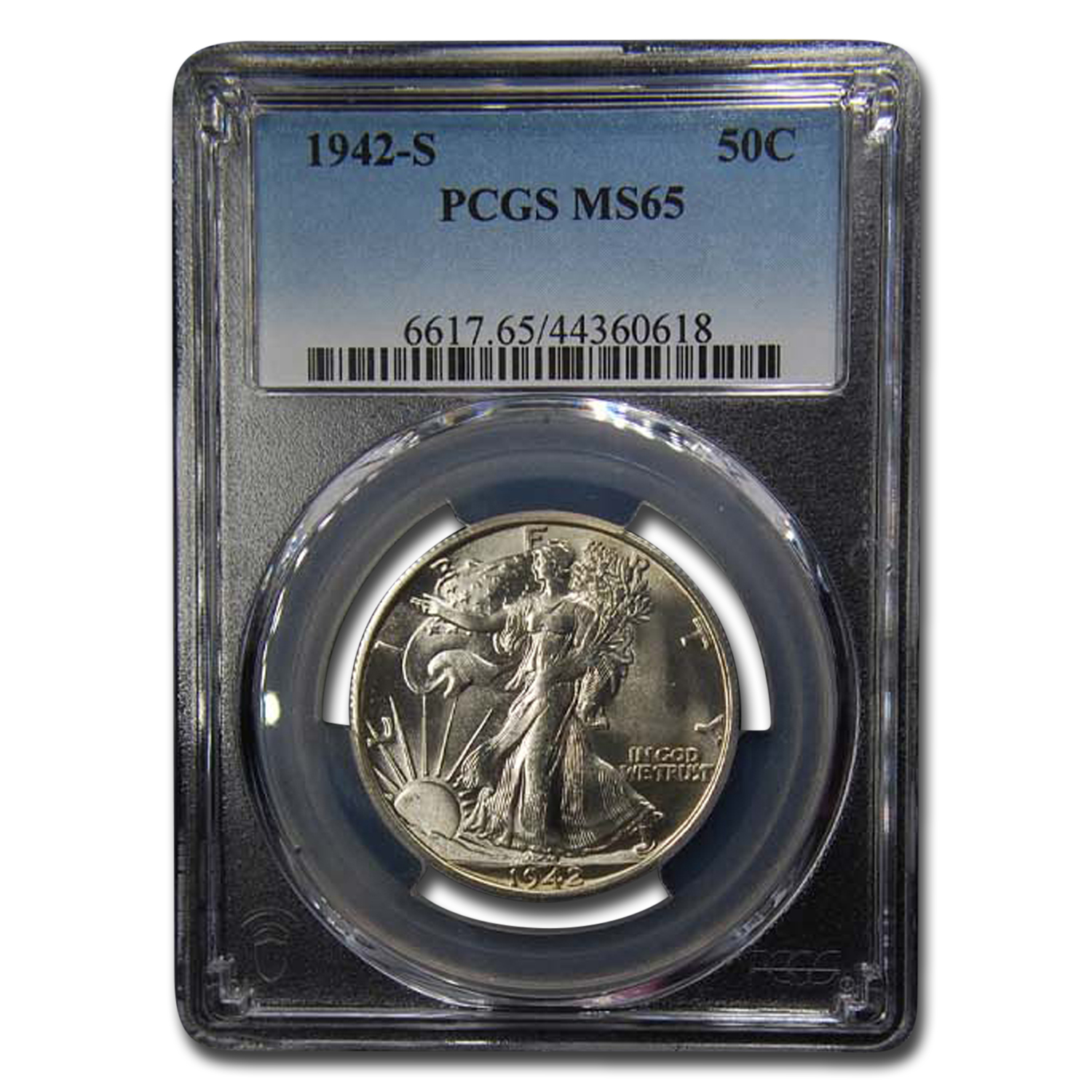 1942-S Walking Liberty Half Dollar MS-65 PCGS