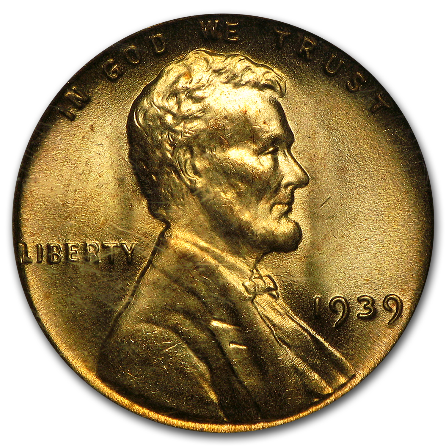 1939 Lincoln Cent MS-66 PCGS (Red)