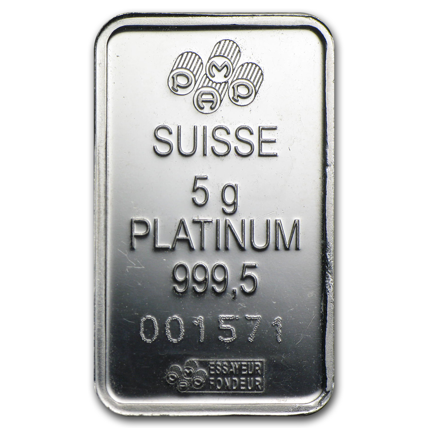 5 gram Platinum Bar - Secondary Market (.999+ Fine )