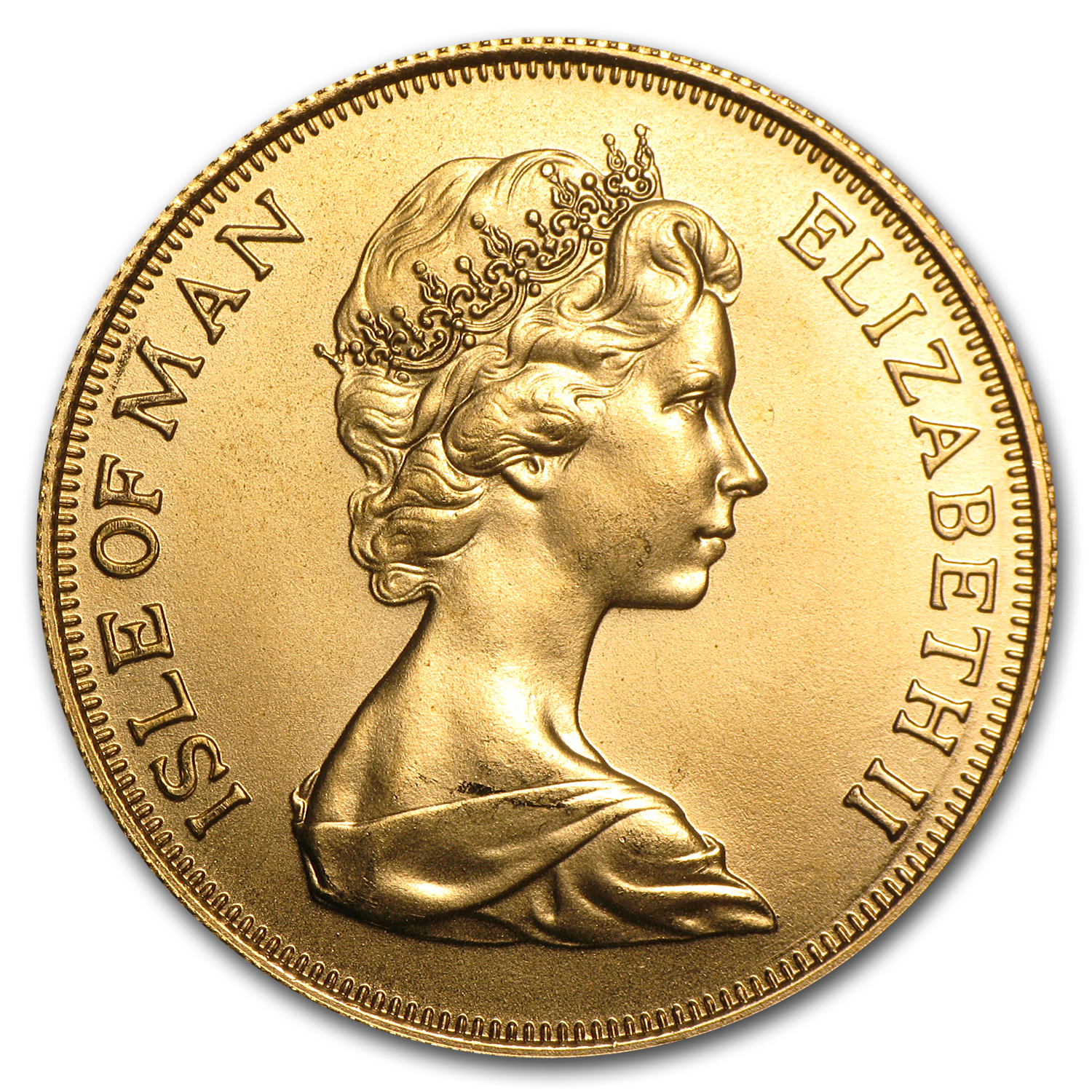 1973-82 Isle of Man Gold 2 Pound Sovereign BU (Random)