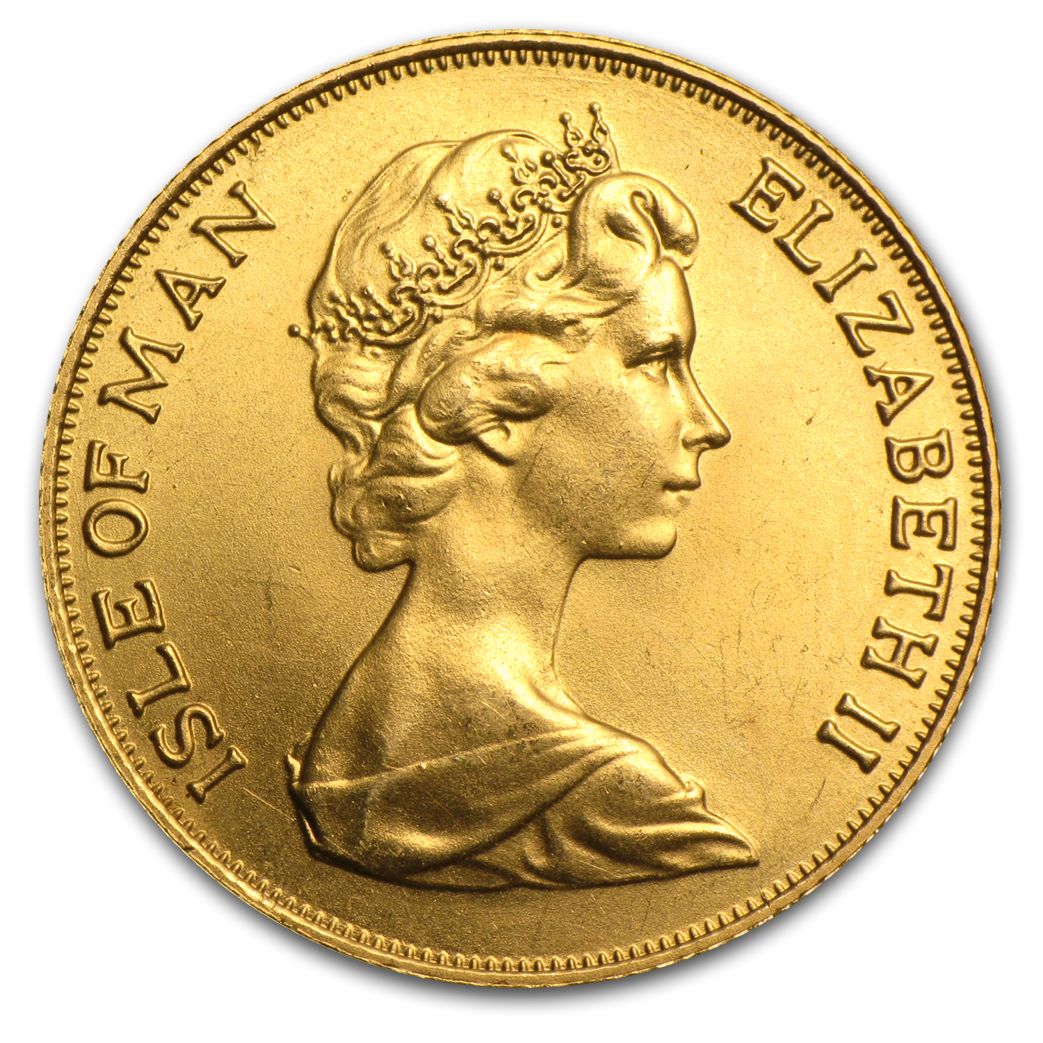 1973-82 Isle of Man Gold Sovereign BU (Random)