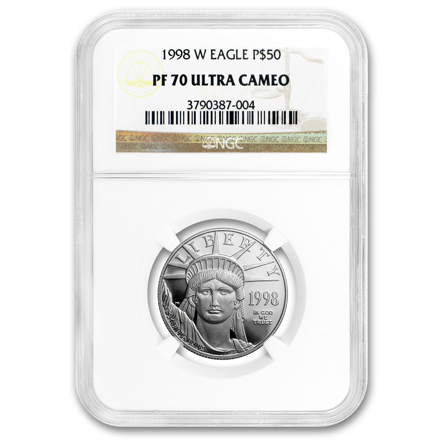 1998-W 1/2 oz Proof Platinum American Eagle PF-70 NGC UCAM