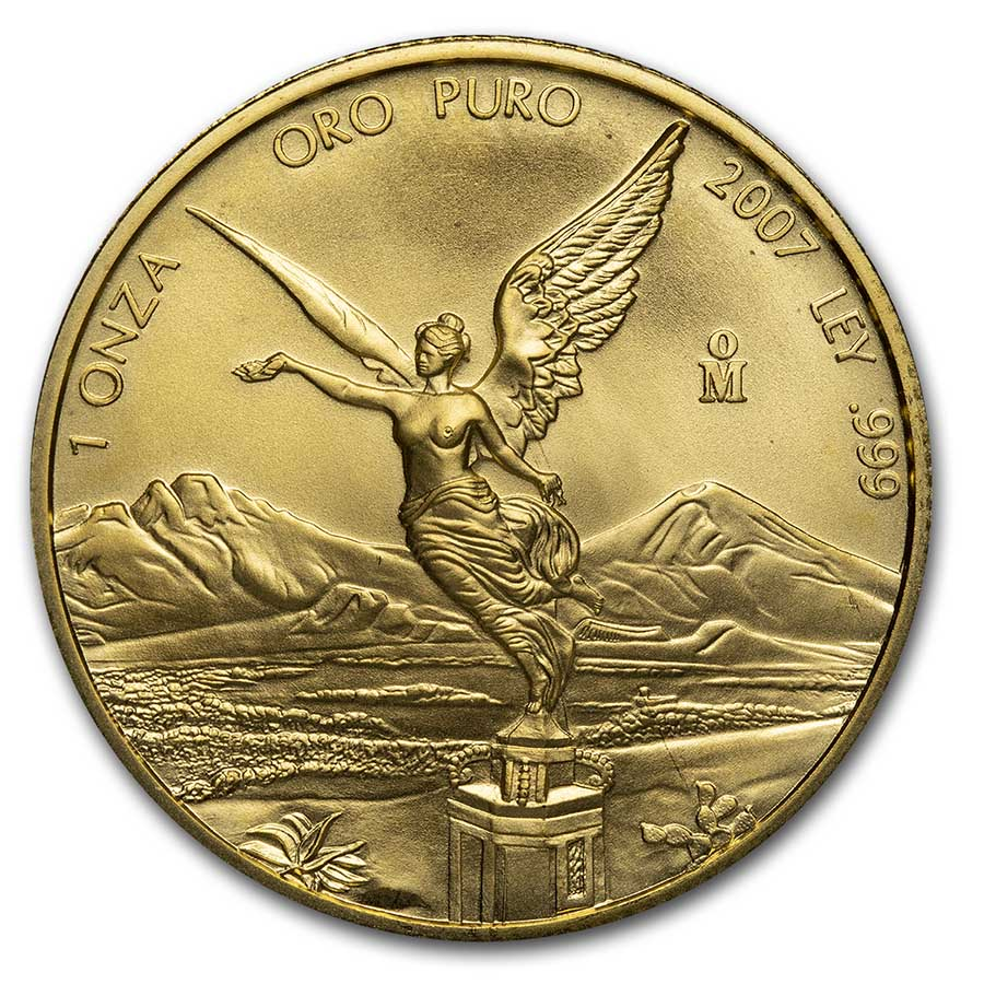 2007 Mexico 1 oz Gold Libertad BU